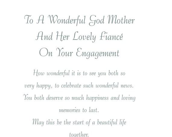 God Mother & Fiance Engagement Card