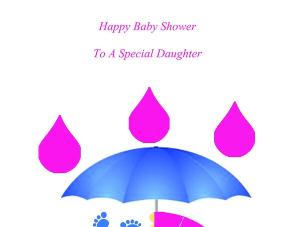 Daughter Baby Shower Twin Boy And Girl Card