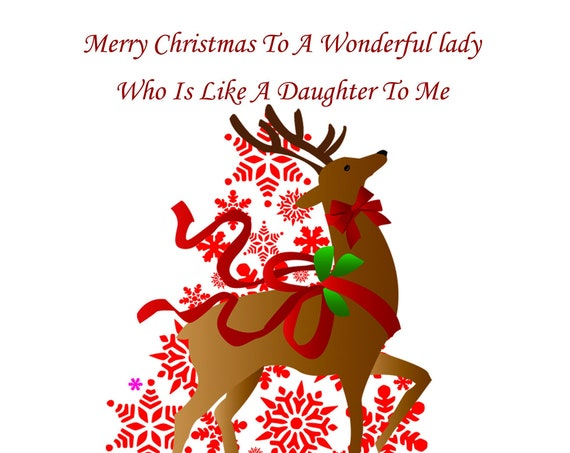 Like A Daughter Christmas Card