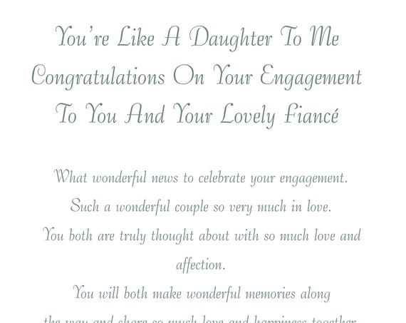 Like a Daughter & Fiance Engagement Card