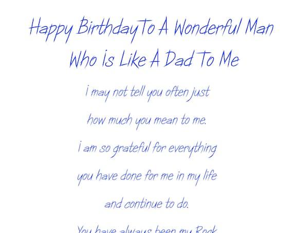 Like a Dad Birthday Card