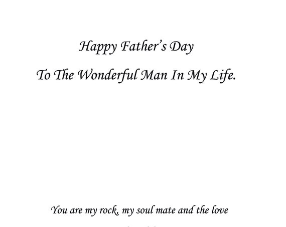 Man In My Life Father's Day Card