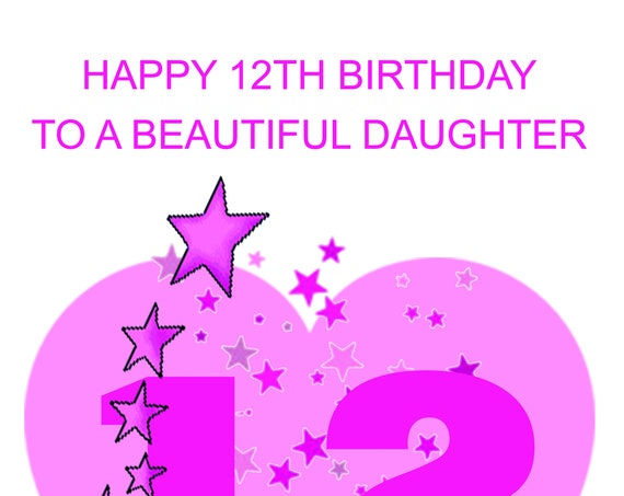 Daughter 12th Birthday Card