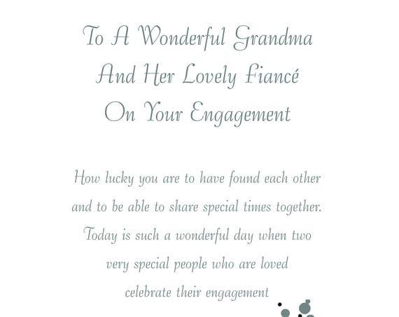 Grandma & Fiance Engagement Card