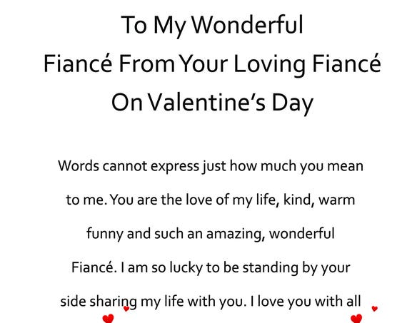 Fiance Valentines Day Card from your Fiance 2