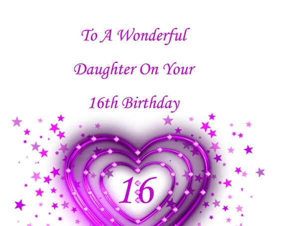 Daughter 16th Birthday Card
