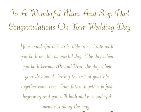 Mum & Step Dad Wedding Card