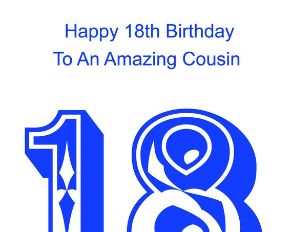 Cousin 18th Birthday Card male