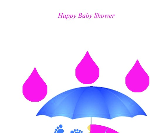 Baby Shower Twin Boy And Girl Card