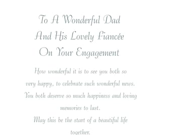 Dad /& Fiancee Engagement Card