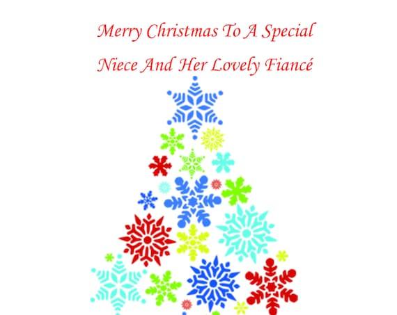 Niece And Fiance Christmas Card