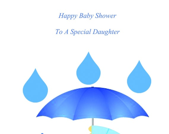 Daughter Baby Shower Twin Boys Card