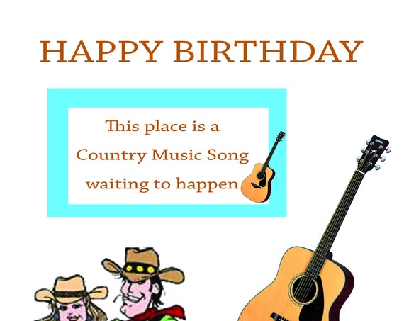 Northern Soul Birthday Card 293 Country Music