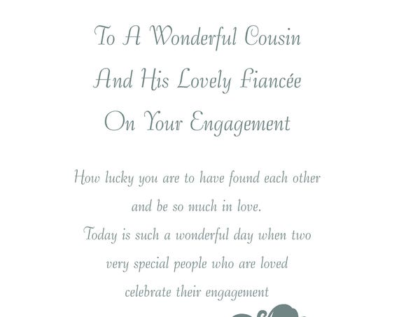Cousin & Fiancee Engagement Card