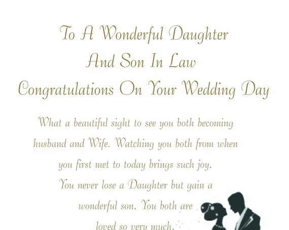 Daughter & Son in Law Wedding Card