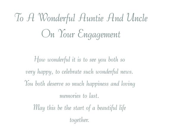 Auntie & Uncle Engagement Card