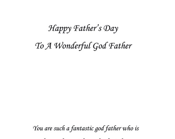 God Father Father's Day Card
