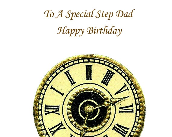 Step Dad Birthday Card t