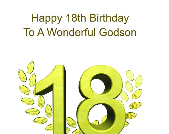 Godson 18th Birthday Card