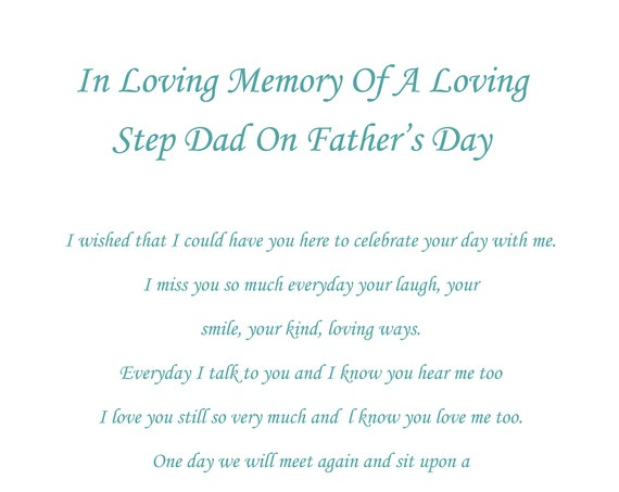 Step Dad In Memory Fathers Day Card