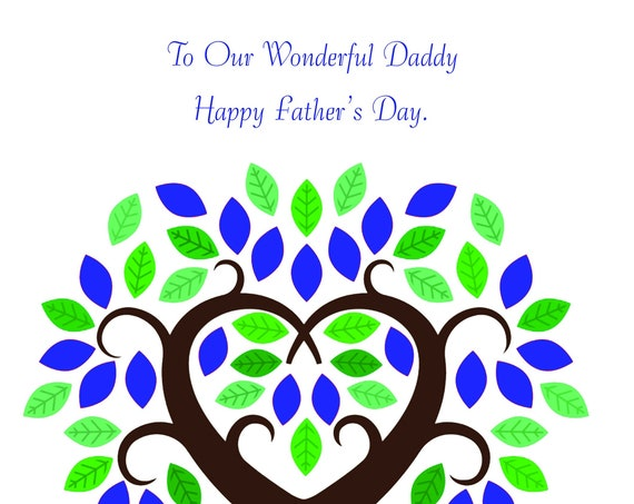 Our Daddy Father's Day card