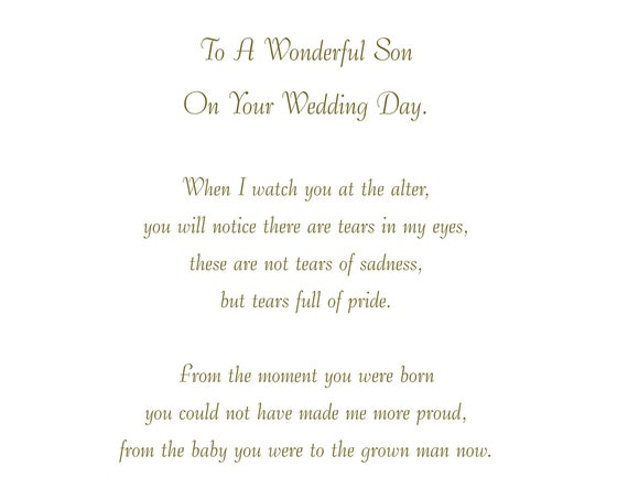 Son Wedding Card