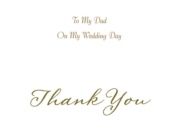 Dad from Daughter Wedding Card Thank you