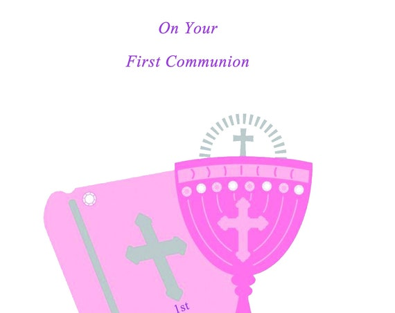 First Communion Girl card