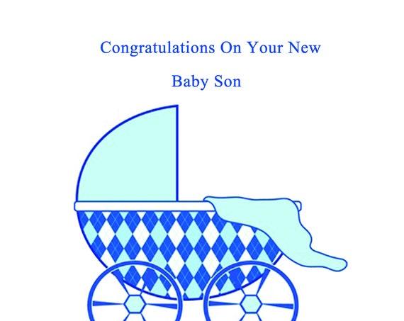 Congratulations new baby son card