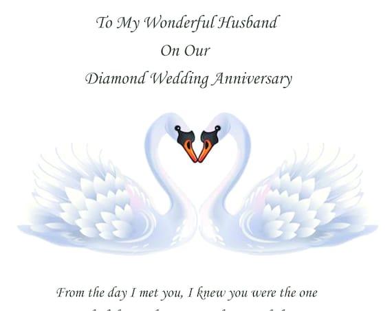 Husband Diamond Anniversary Card