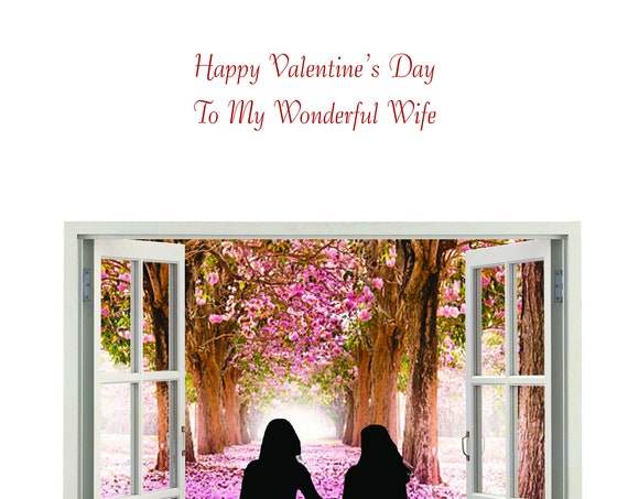 Wife Valentines Day female and female new design