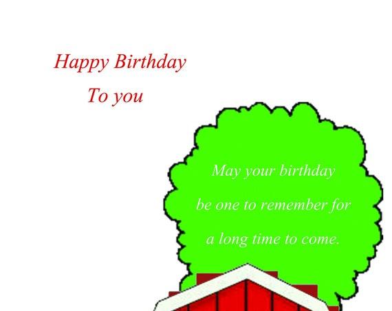 Birthday Card farm