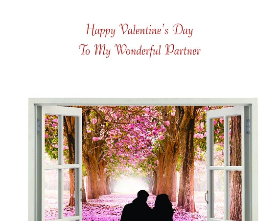 Partner Valentine's Card from male to female new design