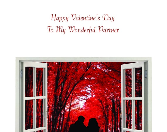 Partner Valentine's Card from female to male new design