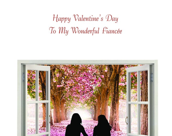 Fiancee Valentine's day card female and female new design