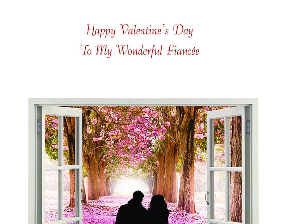 Fiancee Valentine's Day Card  new design