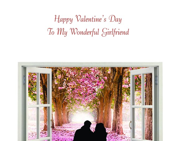 Girlfriend Valentine's Day Card new design