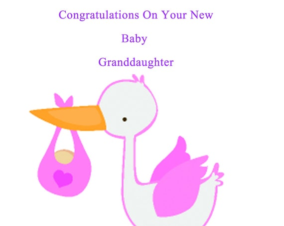 Congratulations new baby granddaughter card