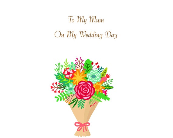 Mum From Daughter Wedding Card Thank you