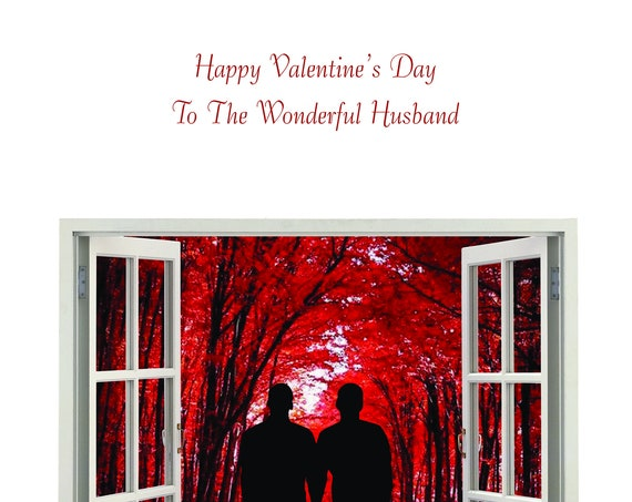 Husband Valentine's Card Male and male new design