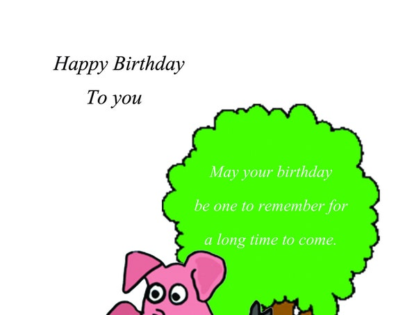 Happy birthday Card pig