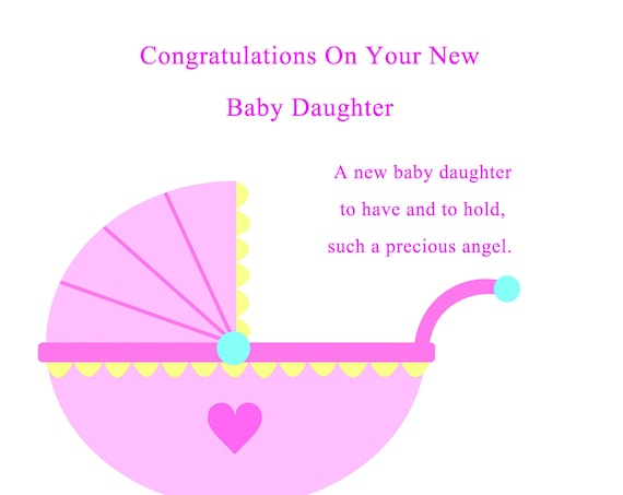 Congratulations new baby daughter card
