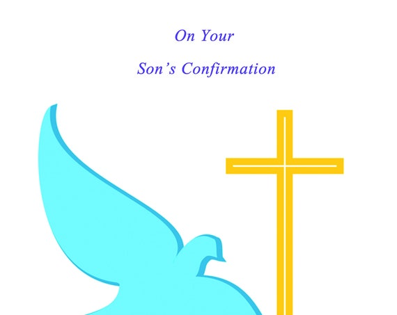 On Your Son's Confirmation Card