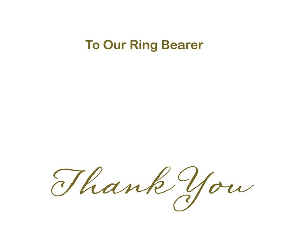 Ring bearer card thank you