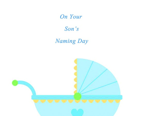On Your Son's Naming Day Card