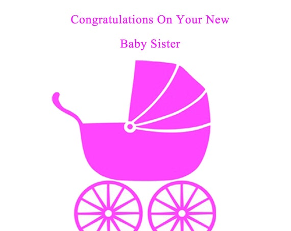 Congratulations new baby sister card