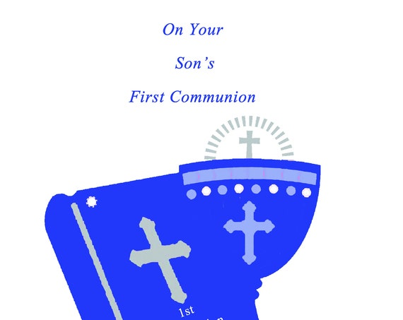 On Your Son's First Communion card