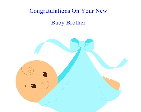 Congratulations baby brother card