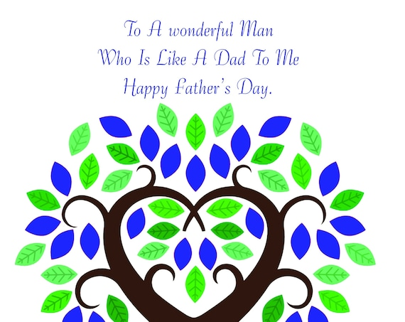 Like a Dad to me Father's Day Card
