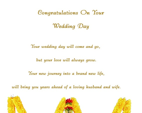 Congratulations Indian Wedding card